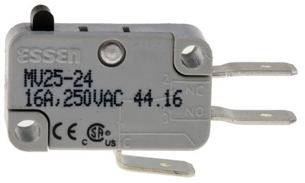 RS PRO SPDT Push Button Microswitch, 16 A @ 250 V ac