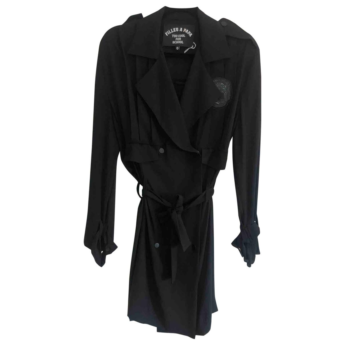 Filles A Papa \N Kleid in  Schwarz Polyester