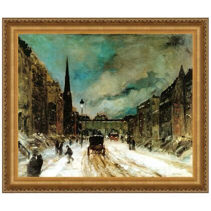 DA3514 44.5X38 Street Scene With Snow