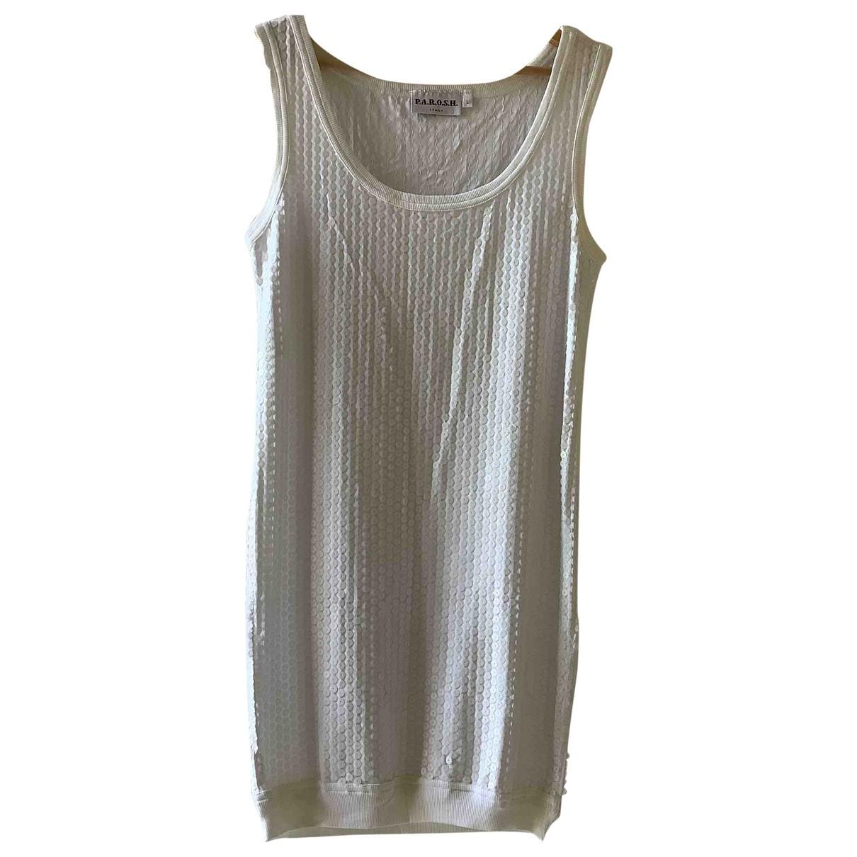 Parosh \N Kleid in  Weiss Mit Pailletten