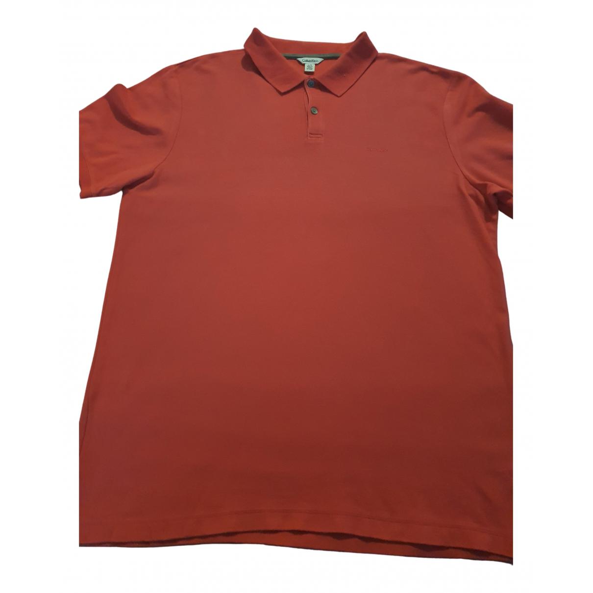 Calvin Klein - Polos   pour homme en coton - rose