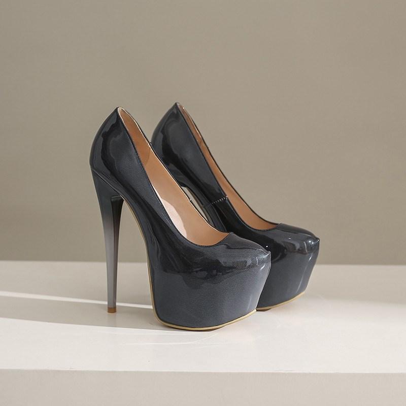 Ericdress Stiletto Heel Round Toe Platform Low-Cut Pumps
