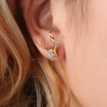 Christmas Deer Design Stud Earrings