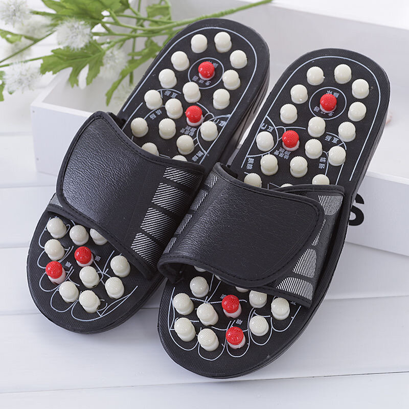 Men Massage Slippers Acupuncture Therapy Activating Reflexology Feet Care Sandals