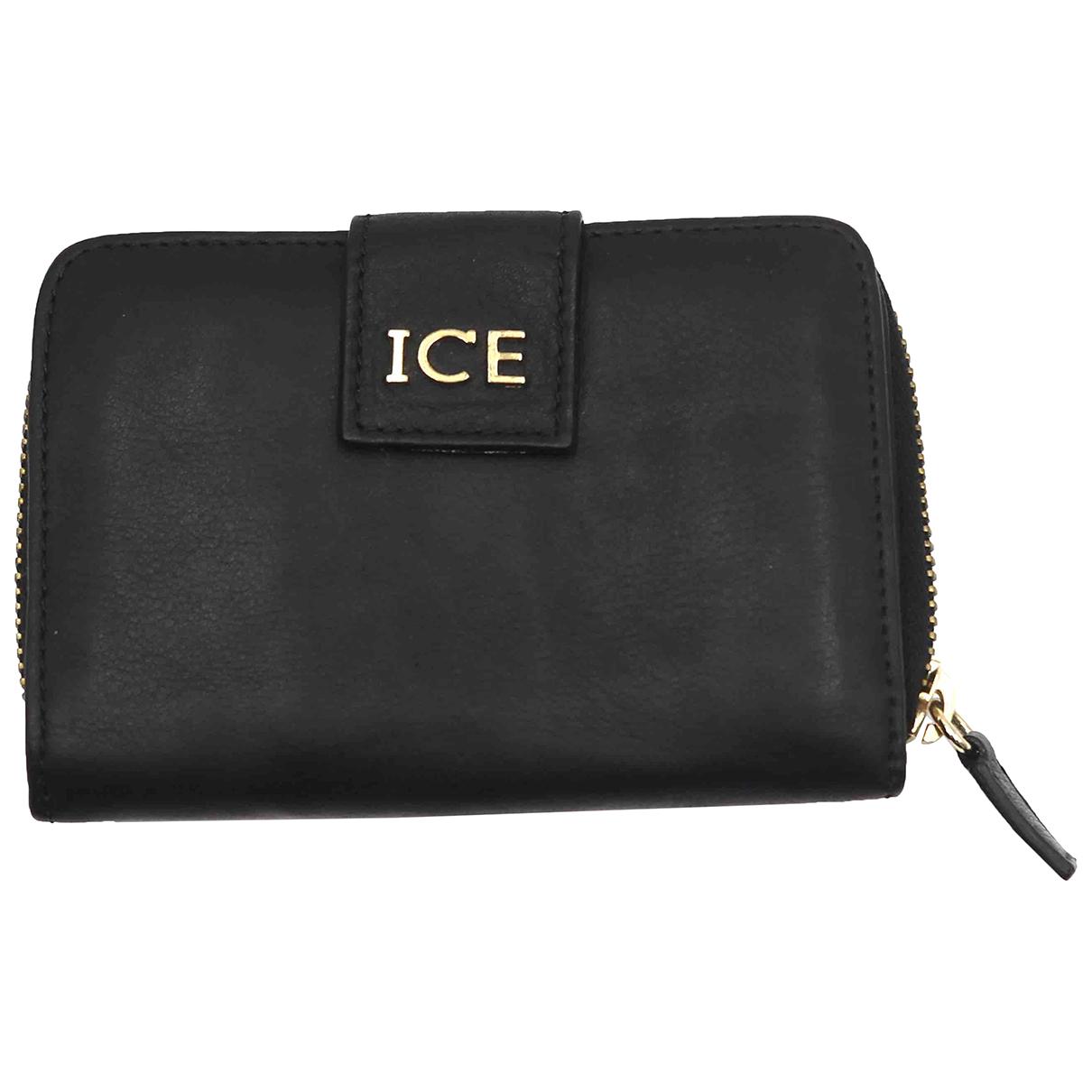 Iceberg - Portefeuille   pour femme en cuir - noir