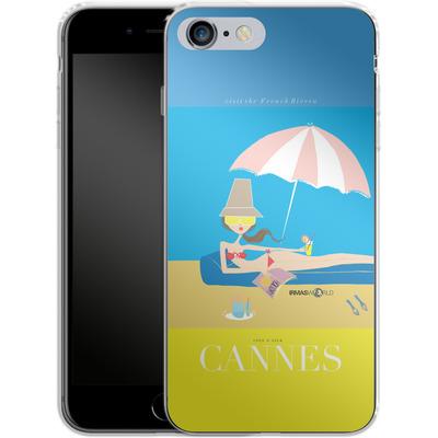 Apple iPhone 6 Plus Silikon Handyhuelle - CANNES TRAVEL POSTER von IRMA