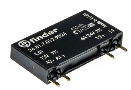 Finder 2 A SPNO Solid State Relay, DC, PCB Mount, 24 V dc Maximum Load