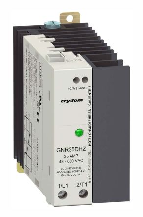 Sensata / Crydom 35 Arms Solid State Relay, Zero Crossing, DIN Rail, 600 Vrms Maximum Load