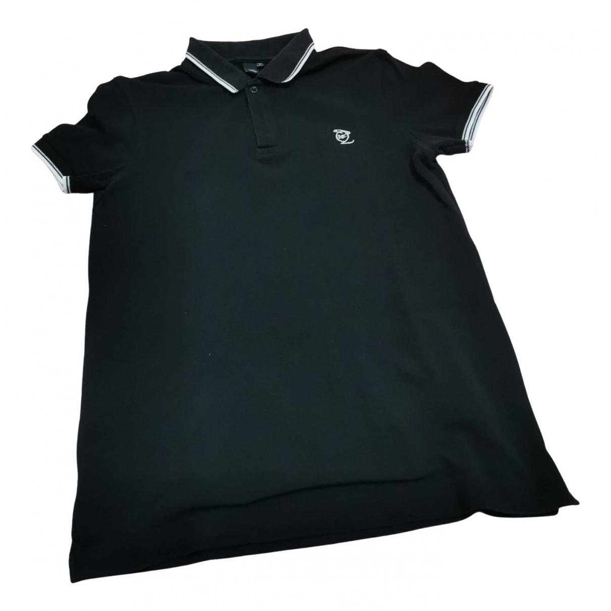 Polo en Algodon Negro Mcq