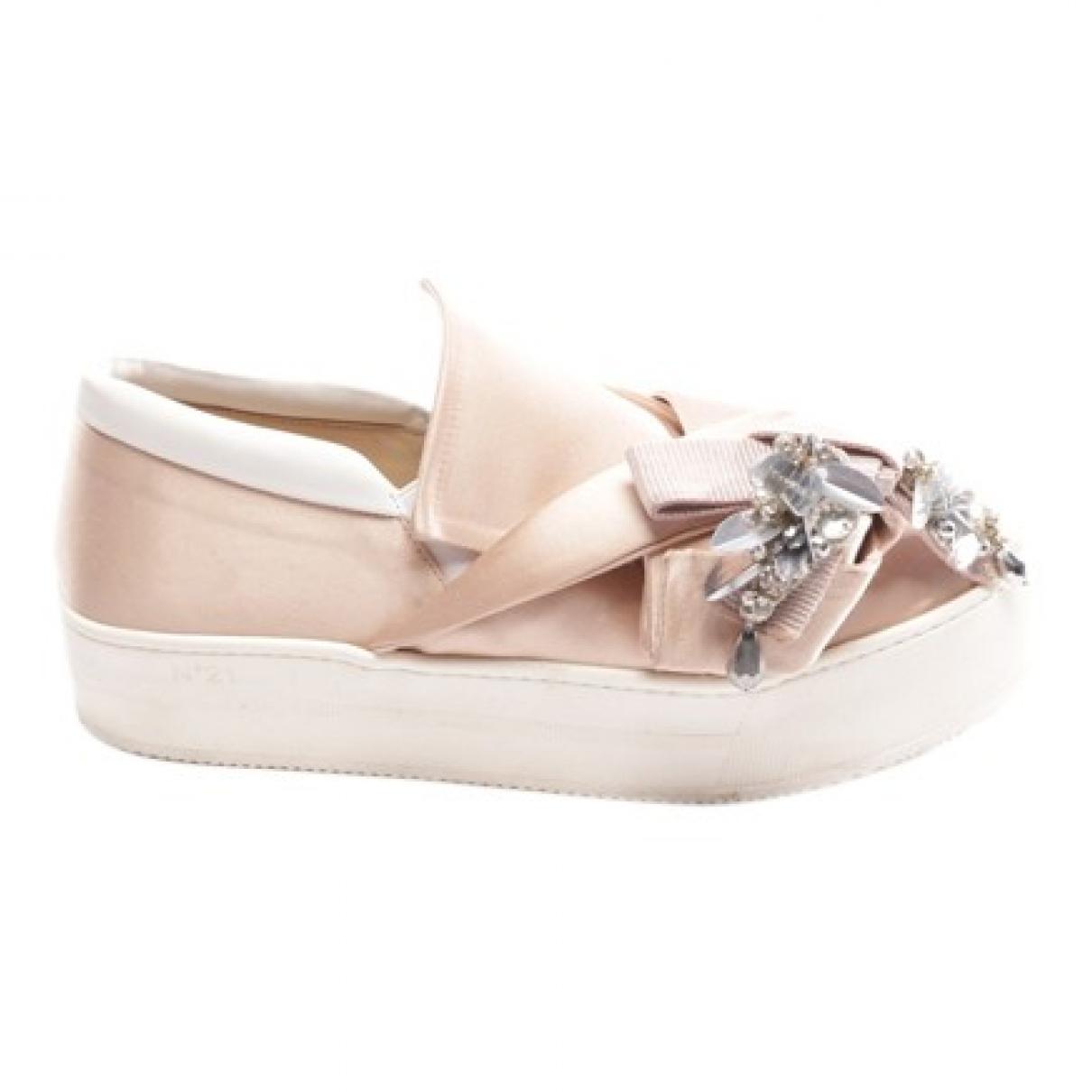 N°21 \N Sneakers in  Rosa Leinen