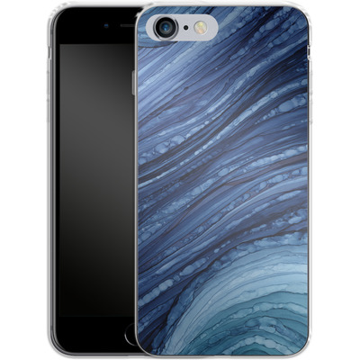 Apple iPhone 6 Plus Silikon Handyhuelle - Blue Agate Crystal Slice von Becky Starsmore