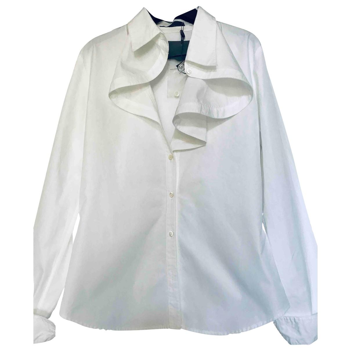 Mcq - Top   pour femme en coton - blanc