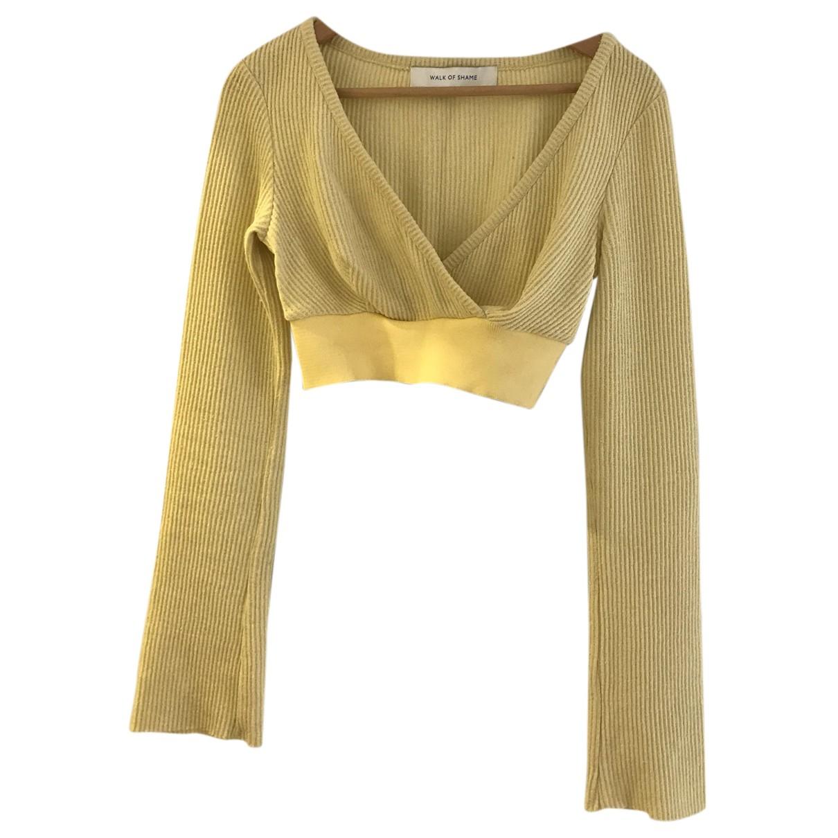 Walk Of Shame N Yellow Cotton  top for Women S International