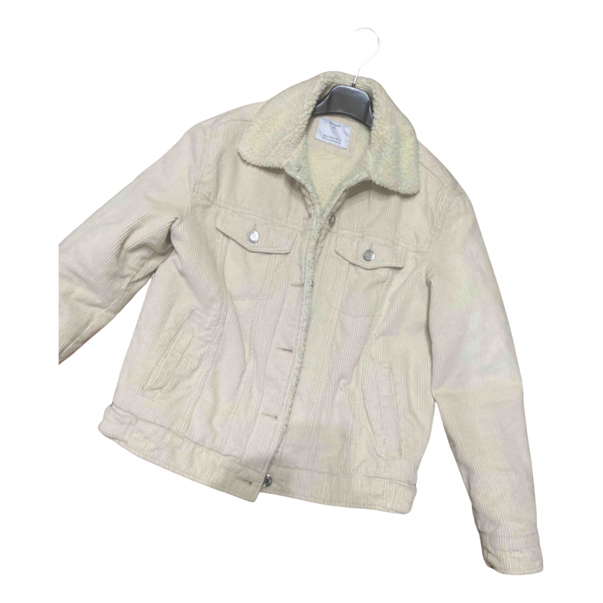 Non Signé / Unsigned N Beige Velvet coat for Women S International