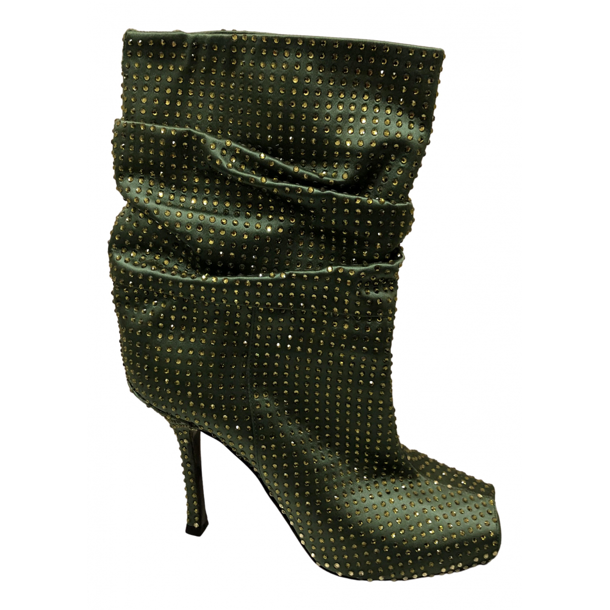 Le Silla - Bottes   pour femme en a paillettes - vert