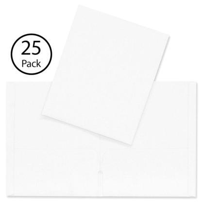 Hilroy@ portefeuille a deux pochettes, 25 couvertures par paquet - Blanc
