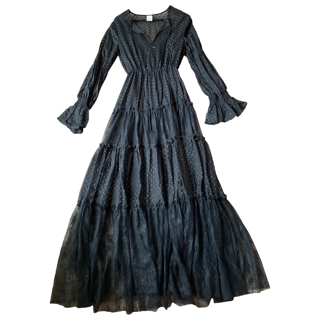 Pinko - Robe   pour femme en dentelle - noir