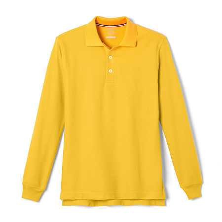 French Toast Little & Big Boys Long Sleeve Polo Shirt, Small , Yellow