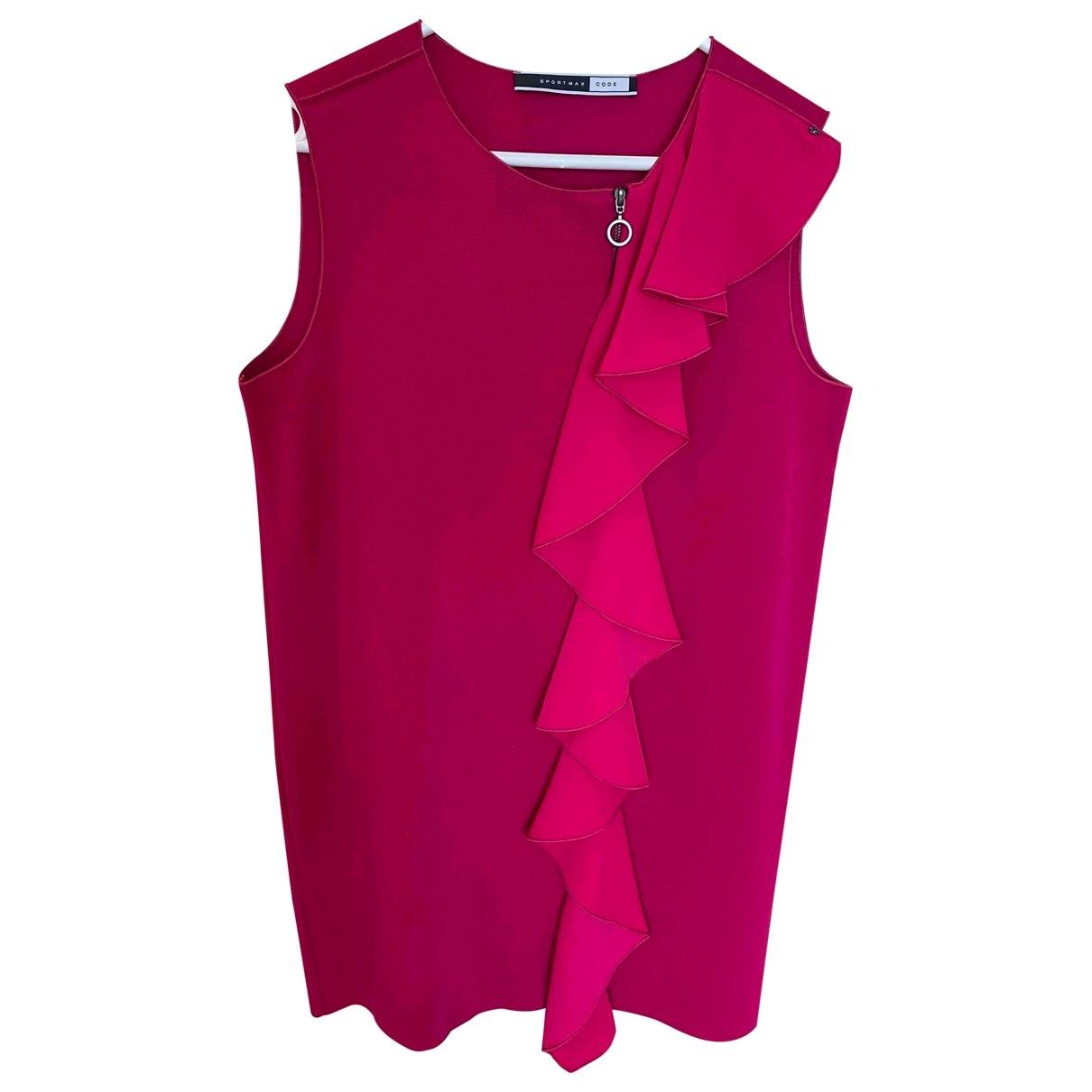 Sport Max \N Pink Cotton - elasthane dress for Women 38 FR