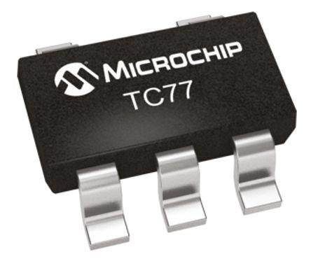 Microchip TC77-5.0MCTTR, Temperature Sensor -55 → +125 °C ±3°C Serial-Microwire, Serial-SPI, 5-Pin SOT-23 (5)