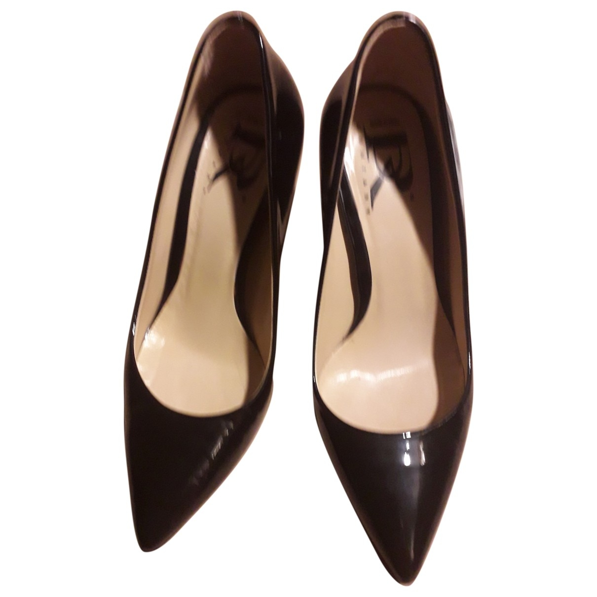 Non Signé / Unsigned \N Black Patent leather Heels for Women 35 EU
