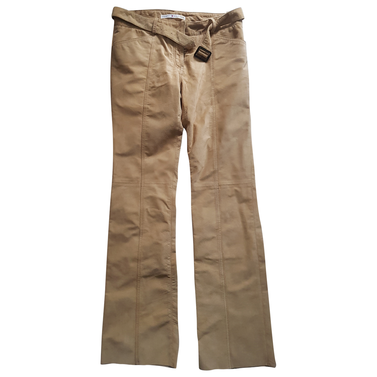 Tommy Hilfiger N Beige Suede Trousers for Women 6 US