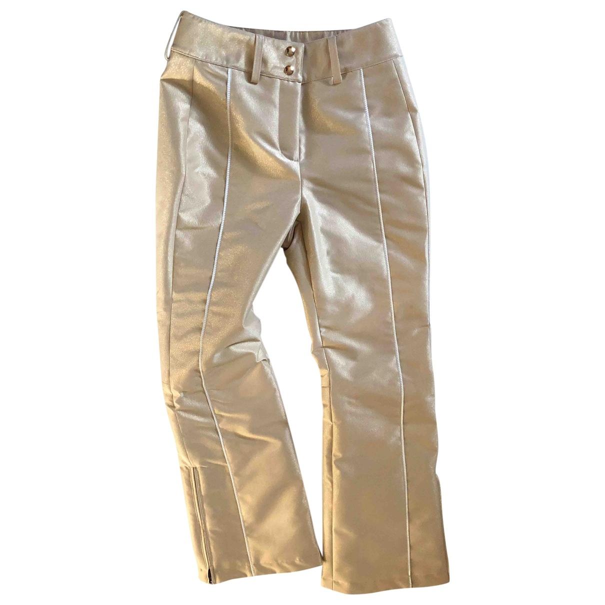 Fendi - Pantalon   pour femme - dore