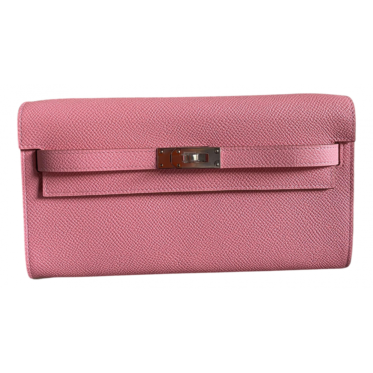Hermes Kelly to go Clutch in  Rosa Leder