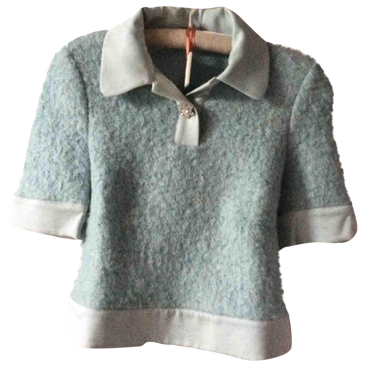 Tara Jarmon - Pull   pour femme en laine - bleu