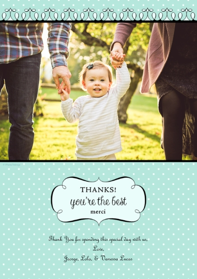 Thank You Cards 5x7 Cards, Premium Cardstock 120lb with Rounded Corners, Card & Stationery -Thanks!