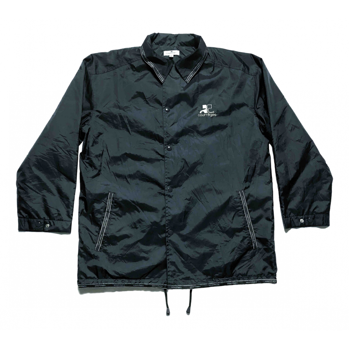 Courreges \N Jacke in  Schwarz Polyester