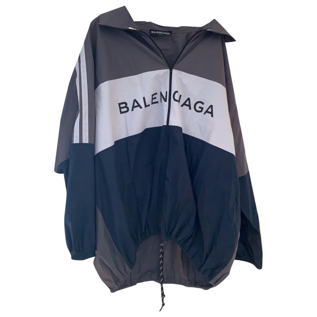 Balenciaga \N Navy Cotton jacket  for Men 38 UK - US