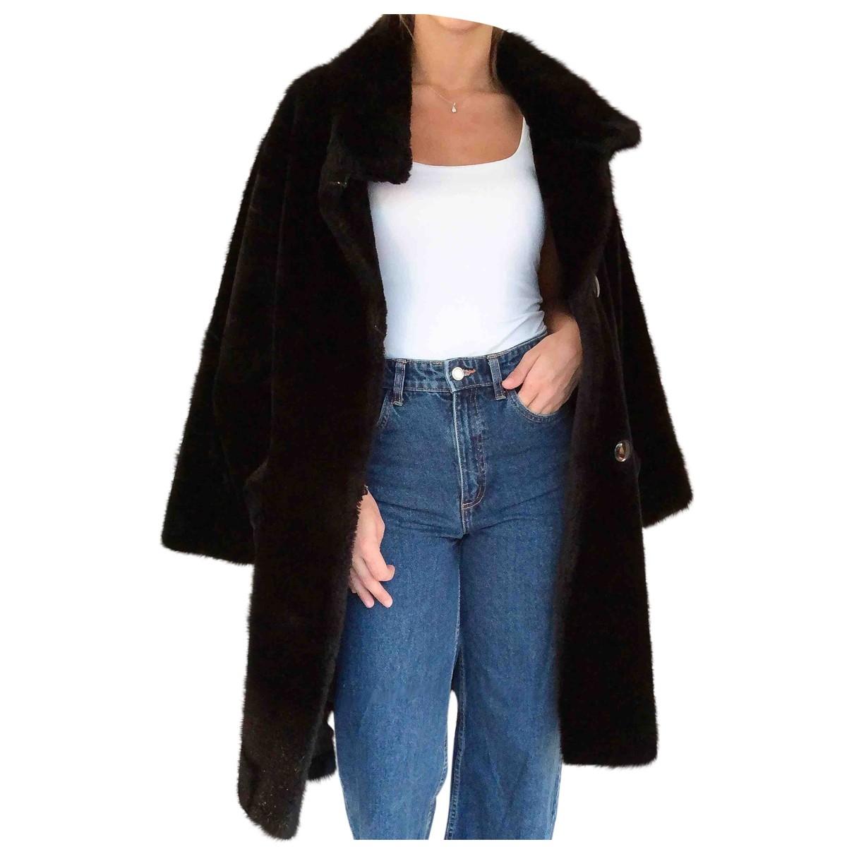 Non Signé / Unsigned \N Black Cotton coat for Women 42 FR