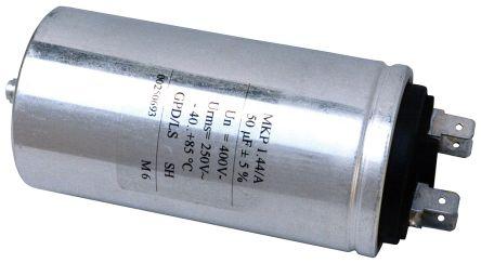 KEMET 5μF Polypropylene Capacitor PP 400 V ac, 700 V dc ±5% Tolerance Screw Mount C44A Series