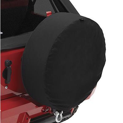 Bestop 35 Inch Spare Tire Cover (Black Twill) - 61035-17