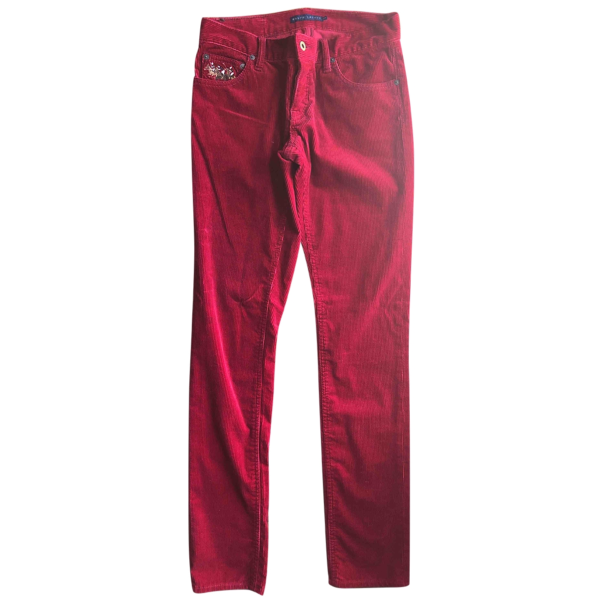 Ralph Lauren \N Burgundy Cotton Trousers for Women S International