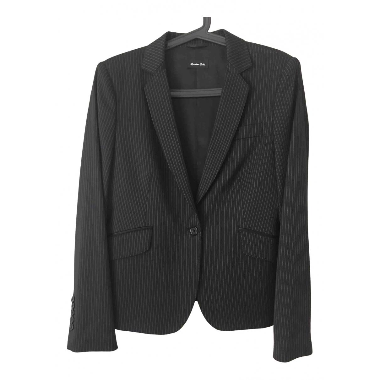Massimo Dutti - Veste   pour femme en laine - noir