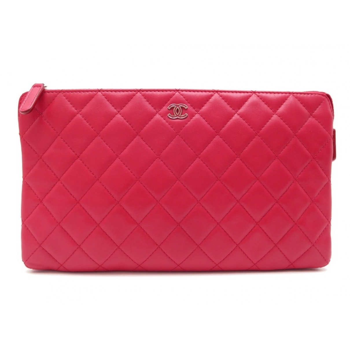 Chanel - Pochette   pour femme en cuir - rose