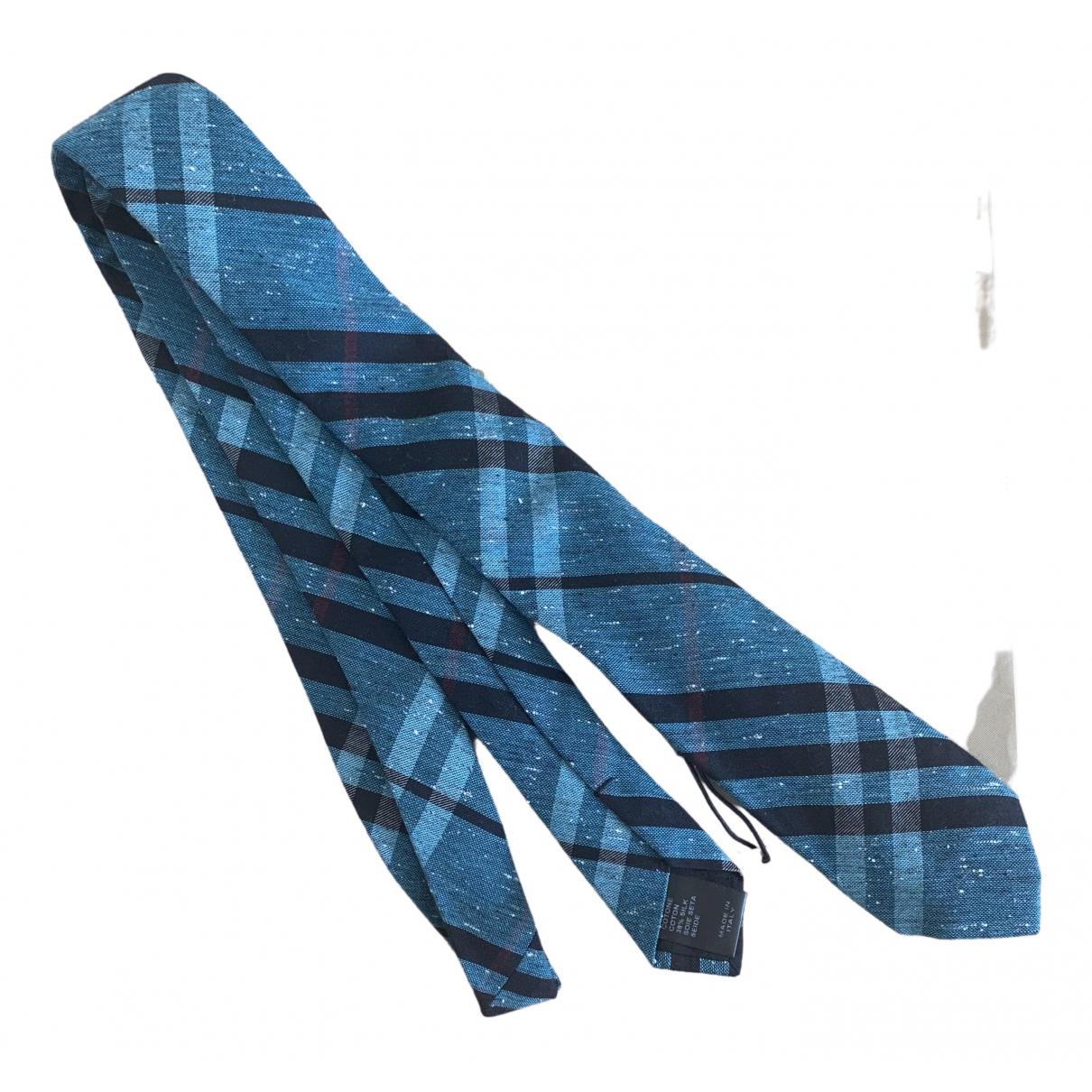 Burberry \N Krawatten in  Blau Baumwolle