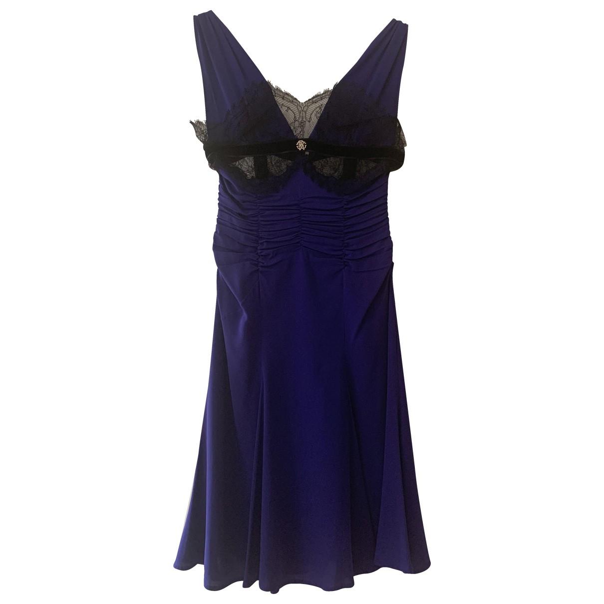 Roberto Cavalli - Robe   pour femme en soie - violet