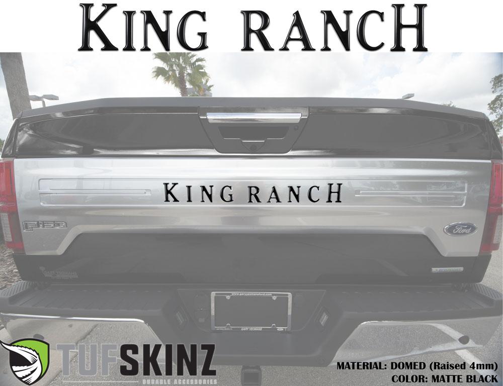 Tufskinz FRD009-BLK-M Tailgate Inserts Fits 2018-2021 Ford F-150 King Ranch 9 Piece Kit Matte Black