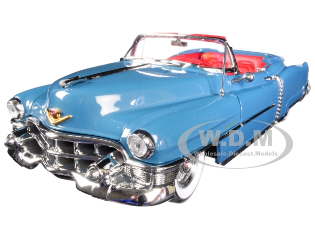 1953 Cadillac Eldorado Convertible Tunis Blue Limited Edition to 1002 pieces Worldwide 1/18 Diecast Model Car by Autoworld