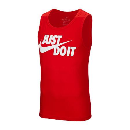 Nike Just Do It Mens Sleeveless Tank Top, Medium , Red