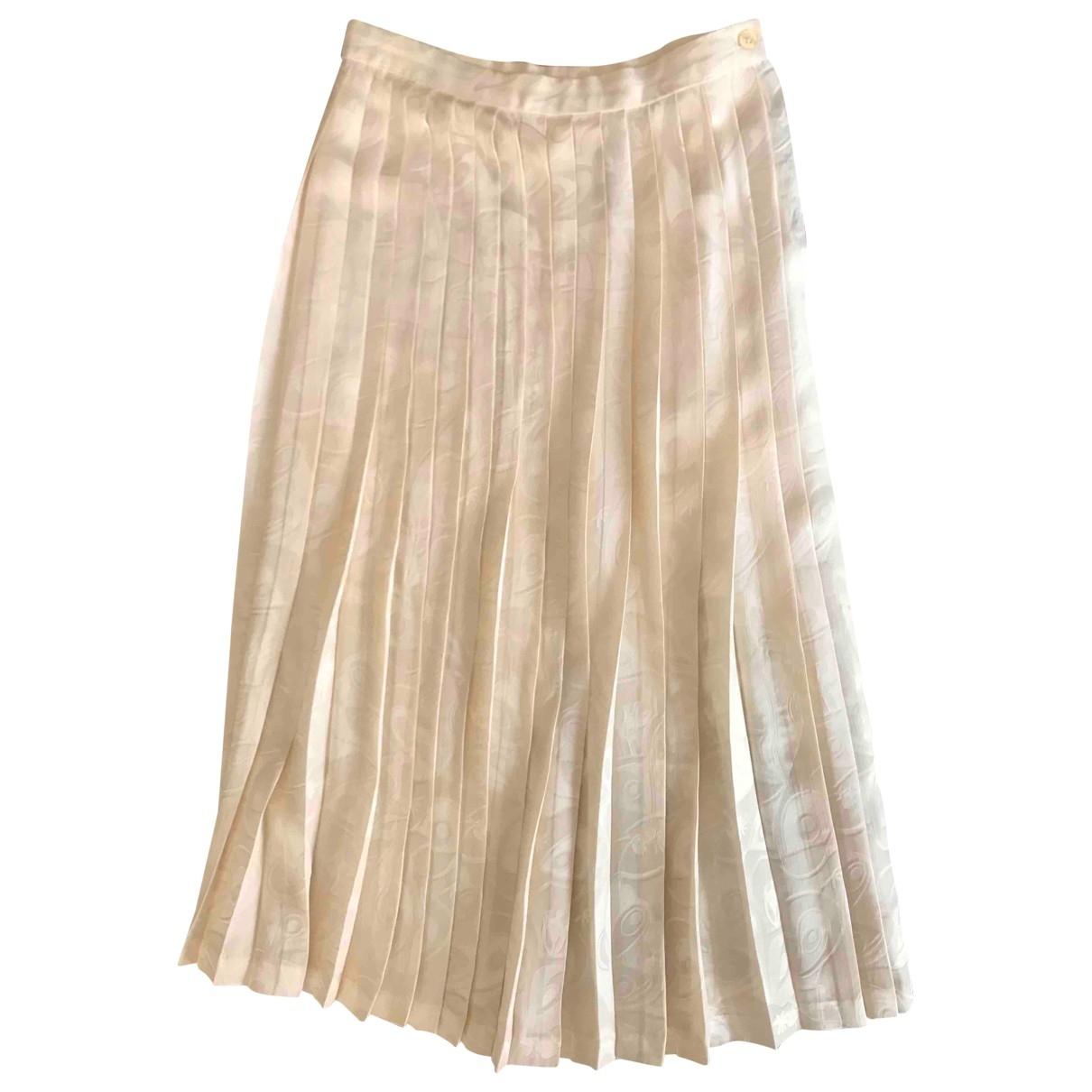 - Jupe   pour femme en soie - beige