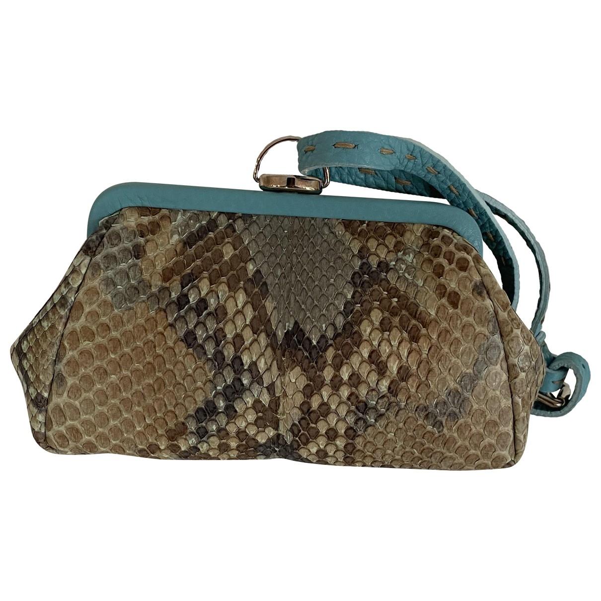 Fendi \N Brown Water snake Purses, wallet & cases for Women \N