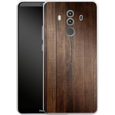 Huawei Mate 10 Pro Silikon Handyhuelle - Dark Wood Floor von caseable Designs