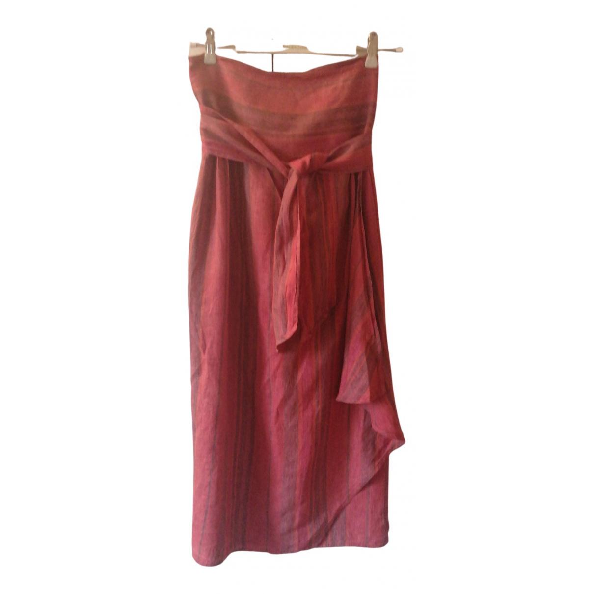 Max Mara N Multicolour Linen skirt for Women 44 FR