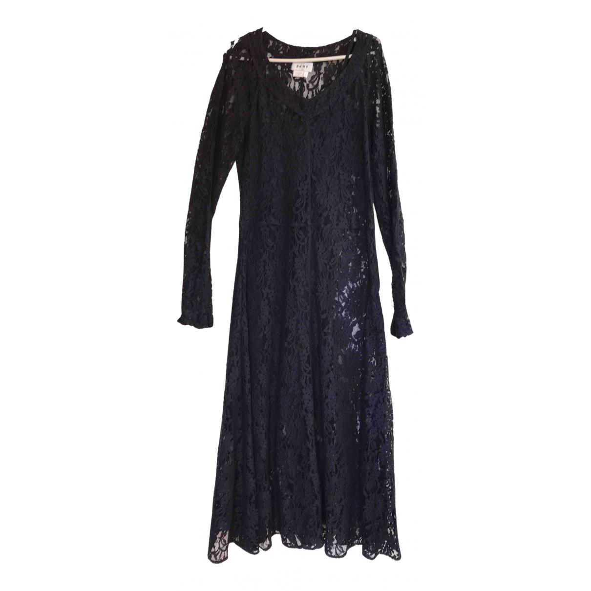 Dkny \N Kleid in  Blau Spitze