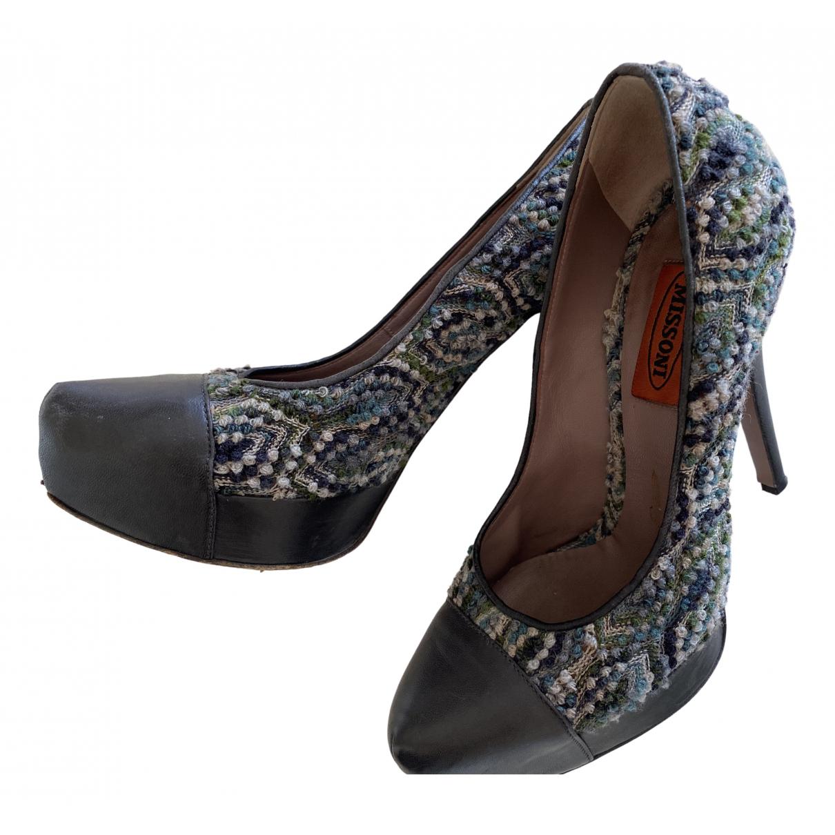 Missoni \N Blue Leather Heels for Women 37 EU
