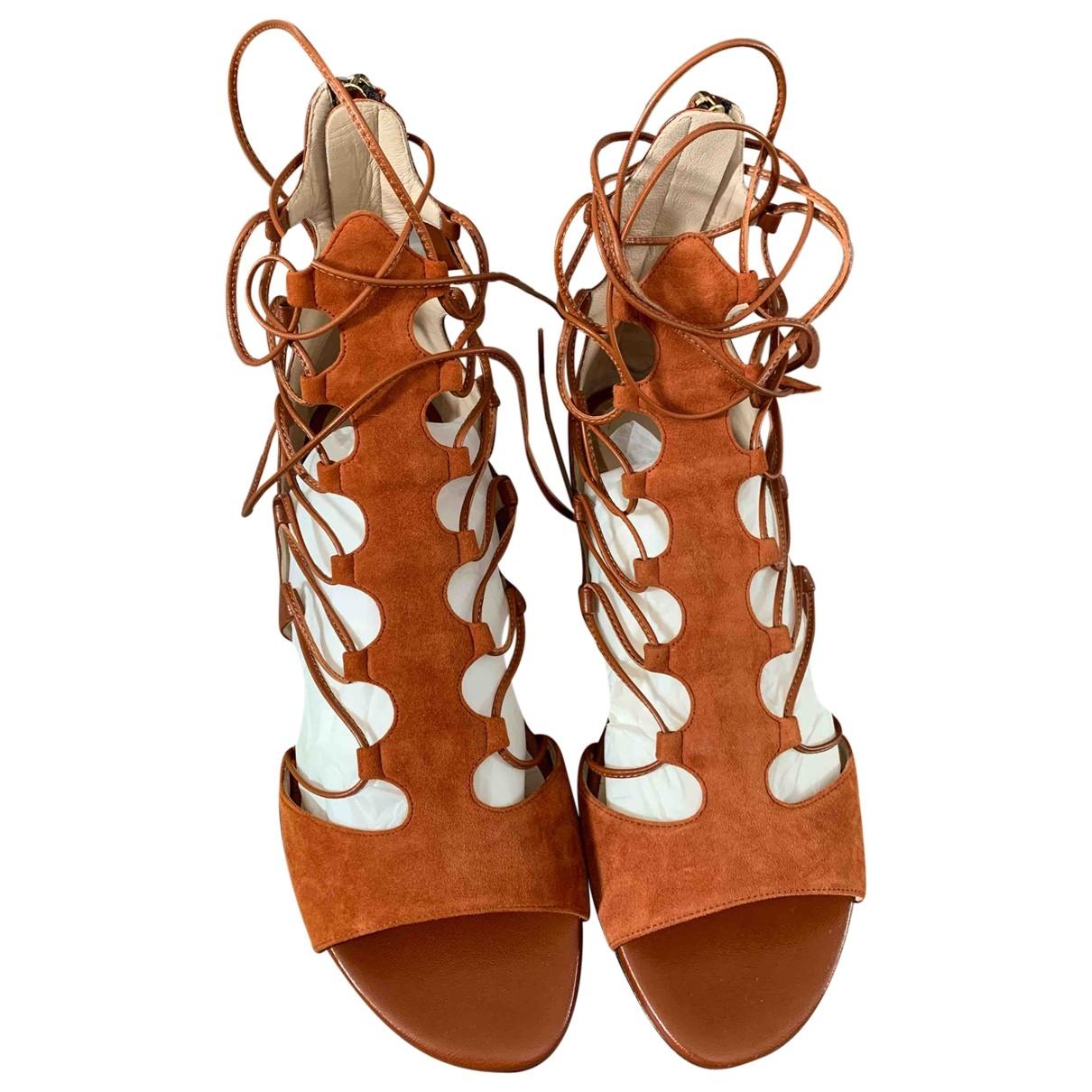 Etro - Sandales   pour femme en cuir - marron